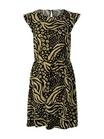 mini dress with ruffle sleeve