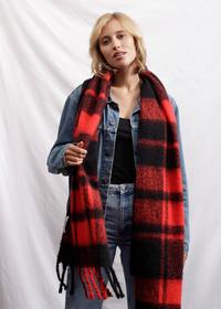 Softer Oversized Karo-Schal aus recyceltem Polyester