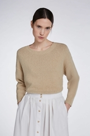 Rundhals Cropped Pullover