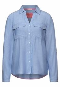 LTD QR Chambray shirtcollar bl