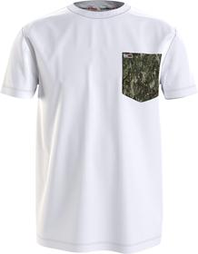 T-Shirt mit kontrastierenden Taschen