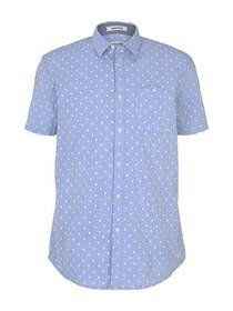 patterned stretch shirt