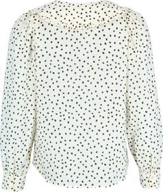 Rüschen-Bluse aus leichtem Baumwolle-Voile