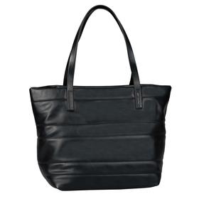 MIRI QUILTED, Zip shopper XL, mid grey