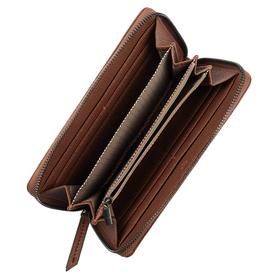 BELLA, Long zip wallet, cognac