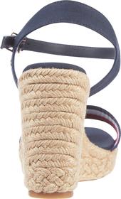 Keilabsatz-Sandale mit Schimmerstreifen