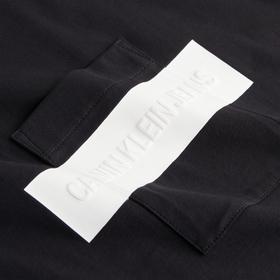 Cropped T-Shirt mit geprägtem Logo