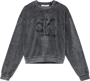 Sweatshirt aus gewaschenem Samt