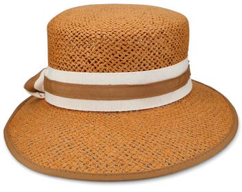 Hut mit gestreiftem Band