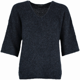 Cape-Pullover aus Woll-Mix