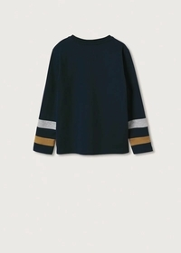 Langärmliges Baumwoll-T-Shirt