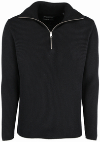 Pullover im Troyer-Stil aus edlem Baumwolle-Schurwolle-Mix