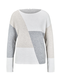 pullover jaquard batwing