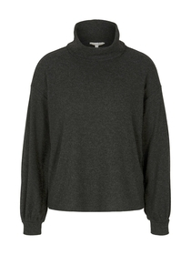 cosy ribbed roll neck