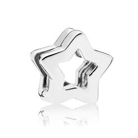 PANDORA Reflexions silver clip charm wit