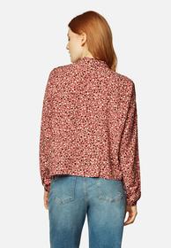 Verkürzte Bluse mit Print