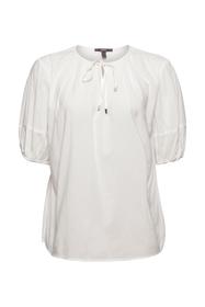 Bluse mit halblangen Ärmeln aus Baumwoll-Mix