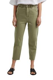 Cropped Hose mit Stretch, Organic Cotton