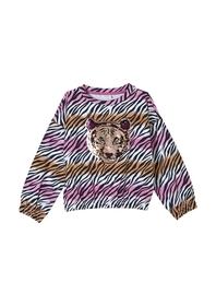 Sweatshirt mit Animal-Muster