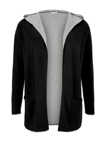 cardigan double face with hood