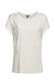 T-Shirt mit Glanzprint