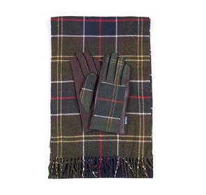 Schal- und Handschuhset