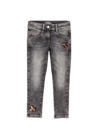 Jeans mit Pailletten-Detail Slim Fit