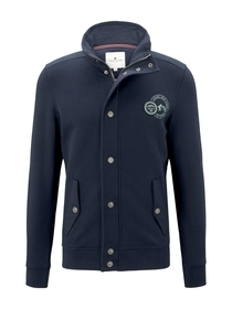 stand-up jacket with details