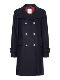Zweireihiger Mantel mit Trichterkragen