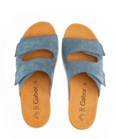 Pantoletten Rauleder blau