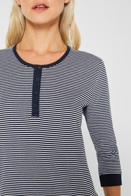 NAVY Mix+Match Jersey-Nachthemd