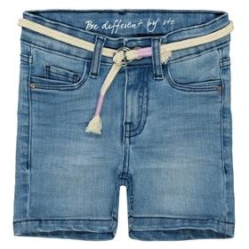 Jeans-Shorts mit Gürtel