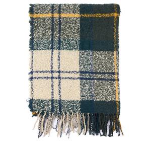 Schal aus Bouclé mit Schottenmuster