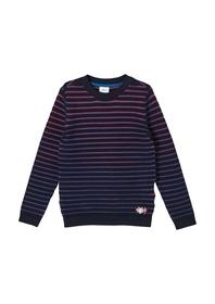 Gestreifter Pullover aus Feinstrick