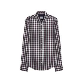 Twill Casual Hemd in Slim mit Button-Down-Kragen