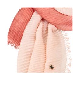 Zweifarbiger Plissee-Schal