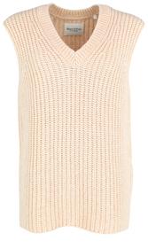 Ärmelloser V-Neck-Pullover aus Organic-Cotton-Mix mit Alpakawolle