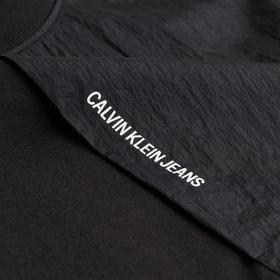 T-Shirt aus Materialmix