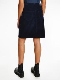 Straight Cord  Hw Skirt