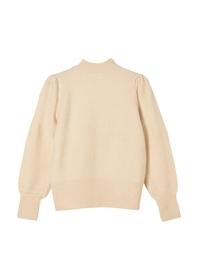 Weicher Pullover mit Stehkragen