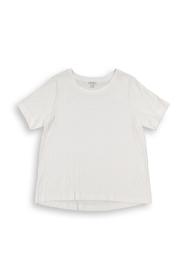 CURVY geripptes T-Shirt aus Materialmix