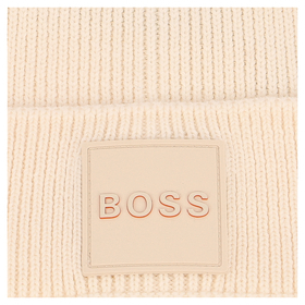 """Gerippte Mütze """"Foxxy"""" mit gummiertem Logo-Badge"""