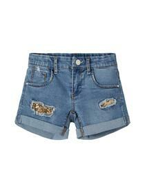 Jeansshorts mit Pailletten