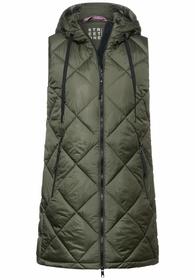 "Weste ""long padded vest"""