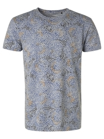 T-Shirt Crewneck Allover Printed Slub Garment Dyed
