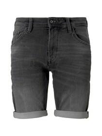 regular fit sweat denim shorts