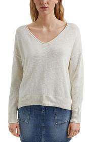 Leinen/Organic Cotton: V-Neck Pullover