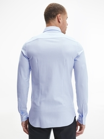 Slim Stripe Knitted Shirt
