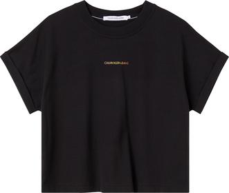 Oversized T-Shirt mit Logo hinten