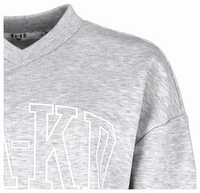 "Sweatshirt ""Printed V-Neck Sweater"""